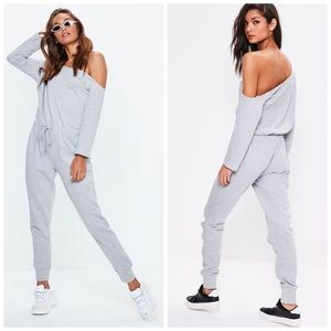 Missguided Casual Off Shoulder Jumpsuit